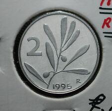 1995  Repubblica Italiana 2 lire  FONDO SPECCHIO  da divisionale
