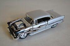 Jada Toys 1/24 Gray 1955 Chevy Bel Air BIGTIME MUSCLE Diecast (MISSING PIECES)