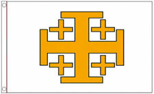 Jerusalem Cross 5x3 Flag Medieval Christian Crusaders