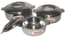 Stainless Steel Hot Cold Food  Double Wall Insulated Casserole Hot Pot Set Of 3