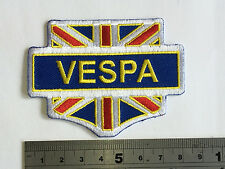 Vespa Union Jack Patch - Embroidered - Iron or Sew On