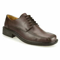 Mens New Real Leather Smart Casual Lace Up Work Office Formal Gibson Shoes Size