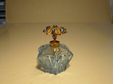 Quality Old Light Blue With Blue Rhinestones Top Ladies Perfume Bottle Atomizer