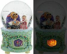 BEAUTY AND THE BEAST LIGHT UP MUSICAL SNOWGLOBE ~ DISNEY STORE ~ FREE SHIP
