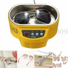 Mini Ultrasonic Cleaner for Jewelry Glasses Circuit Board Watch CD Lens NEW