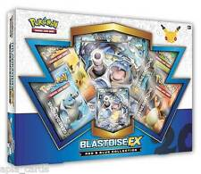 POKEMON rouge & BLUE BLASTOISE ex box - 4 générations booster packs + promo cards