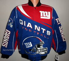 New York Giants Kick Off Twill Jacket Blue / Red - Adult 4X Free Shipping