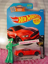 NEW 2016 Hot Wheels FORD SHELBY GT350R  #87✰RED;✰Night Burnerz✰Case N/P