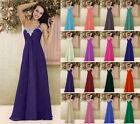 New Long Bridesmaid Formal Wedding Gown Ball Cocktail Evening Prom Party Dress