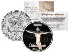 MICHELANGELO * CRUCIFIX * Jesus Christ Statue JFK Kennedy Half Dollar U.S. Coin