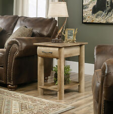 Sauder Woodworking 416561 Boone Mountain Living Room Log Cabin End Table Oak