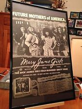 BIG 11X17 FRAMED MARY JANE GIRLS / RICK JAMES LP ALBUM CD PROMO AD - TOUR DATES!