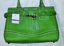 Coach Satchel Bag Summer Green & Double leather Strap 2