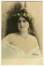 c 1904 French Theater Star Liane De Vries BEAUTIFUL LADY Undivided Back postcard