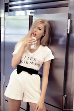 WILDFOX COUTURE I LIVE ABOVE SUNSET TEE TOP L 14 10 42!