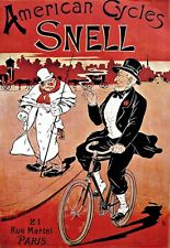 Art Deco Poster American Snell Bicycle Cycle Bike Print