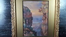 1800-1899 Antique original Topographical watercolor Table Mountain South Africa