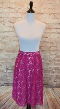 Modcloth Reporting for Beauty Skirt Sz 6 NWT $100 Fuchsia  Lace A-line Gorgeous