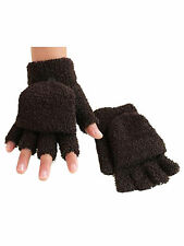 Unisex Fingerless Half Finger Flip Knitted Glove Warm with Mitten Cover