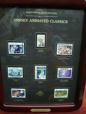 WORLD POSTAGE STAMPS FEATURING DISNEY ANIMATED CLASSICS - NICE FRAMED COLLECTION
