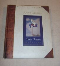 "Anne Geddes ""BABY NAMES"" Keepsake padded hardcover book 1997 - MINT"