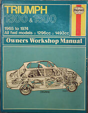 Haynes Workshop  Manual Triumph 1300, 1300TC & 1500 from 1965 to 1974.