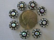 2 Hole Slider Beads Crystal Circles Clear/AB Made With Swarovski Elements #8