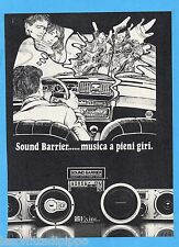 QUATTROR981-PUBBLICITA'/ADVERTISING-1981- SOUND BARRIER - AUTO STEREO (vers.C)