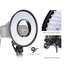 300 LED Ring Light Video Film Continuous Light with Camera Bracket Diffuser P0Z6