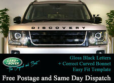 Land rover DISCOVERY 3D Bonnet Letters Badges Letterings GLOSS BLACK 3 4 emblem