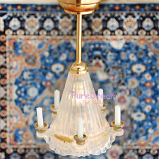 1/12 Dollhouse Miniature Pendant Lamp Light 5 Candles LED lamp Battery Operated