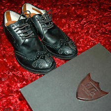 new HTC Hollywood Trading Company scarpa craven pelle colore nero size 43 black