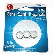 Bright Metal Plated Rare Earth 5lb Magnets - Lot of 3    ( 04N004 )