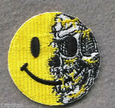 HOOK patch Smiley Skull Morale Tactical Airsoft Pew Pew Patch Funny jacket
