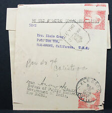 India Cover New Delhi USA American Conference Lines Stamp Indien Brief (H-7736