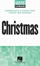 Christmas Lyrics Sheet Music Paperback Lyrics Book NEW 000240273