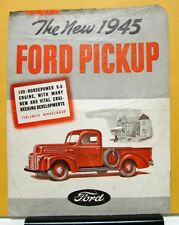 1945 Ford Pickup 100 HP V8 Engine Sales Brochure and Specifications