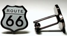 Route 66 USA America Road Trip High Quality Enamel Cufflinks