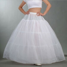 White Cloth 3 Hoop Bridal Wedding Dress Petticoat Crinoline Underskirt