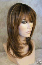 new style fashion long brown mix blonde straight hair wigs for women wig