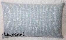 "Double Sided Cushion Cover SCANDI / RETRO ""MINNA"" John Lewis Fabric / Blue White"