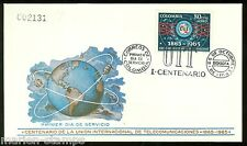 COLOMBIA  CENTENARY OF THE INT'L TELECOMMUNICATION UNION STAMP FDC