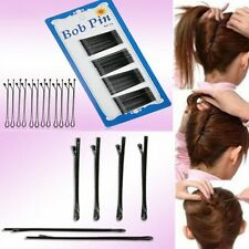 60pcs Black Bobby Kirby Pins Hair Grips Clips Salon Styling Slides Waved Clamps
