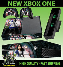 XBOX ONE CONSOLE STICKER ALICE MADNESS RETURNS WONDERLAND SKIN & 2 PAD SKINS
