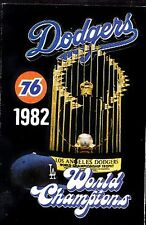 1982 LOS ANGELES DODGERS BASEBALL POCKET SCHEDULE - UNION 76
