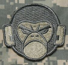 ANGRY MONKEY FACE LOGO TACTICAL USA ARMY MORALE MILSPEC ACU LIGHT VELCRO PATCH