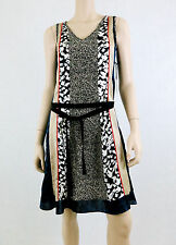 NWT $89 THE LIMITED FORENZA Patchwork Dress V-Neck Sleeveless Multi-Color XS
