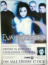 "EVANESCENCE ""FALLEN TOUR"" 2005 PERTH, AUSTRALIA CONCERT POSTER - AMY LEE"
