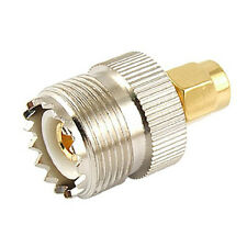 Hot Sale UHF SO-239 SO239 Female to SMA Male Plug Connector Coaxial Adapter