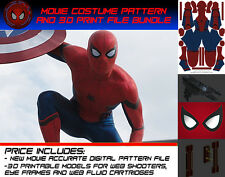NEW Movie Accurate Civil War Spider-man Costume Pattern for Cosplay or Halloween